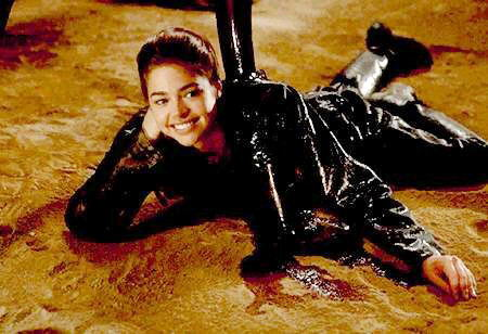 Denise Richards outtake still photo from Starship Troopers.